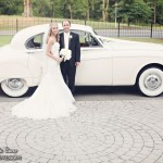 "Allison and Austin with 1959 Jaguar ""Caroline"""