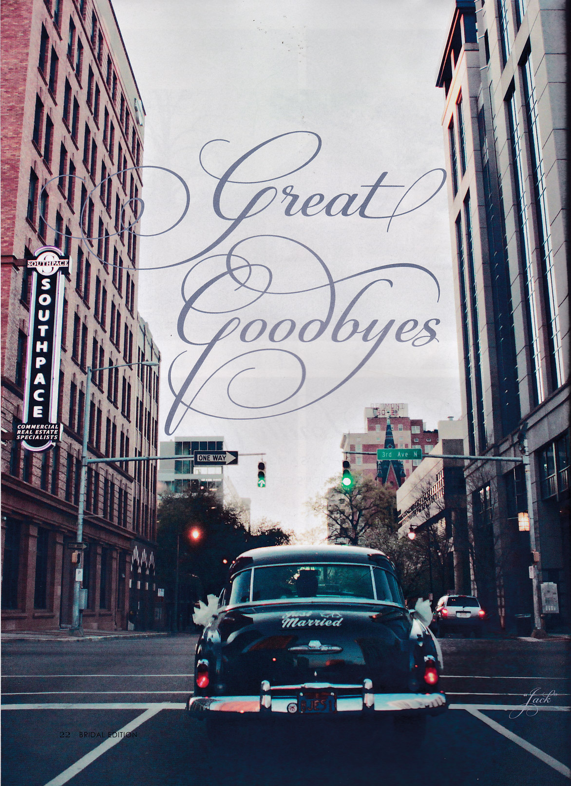 """Great Goodbyes"" — Alabama Magazine Bridal Edition, featuring Coats Classic Cars"